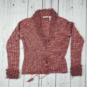 JH Collectibles Medium Red Knit Open Sweater